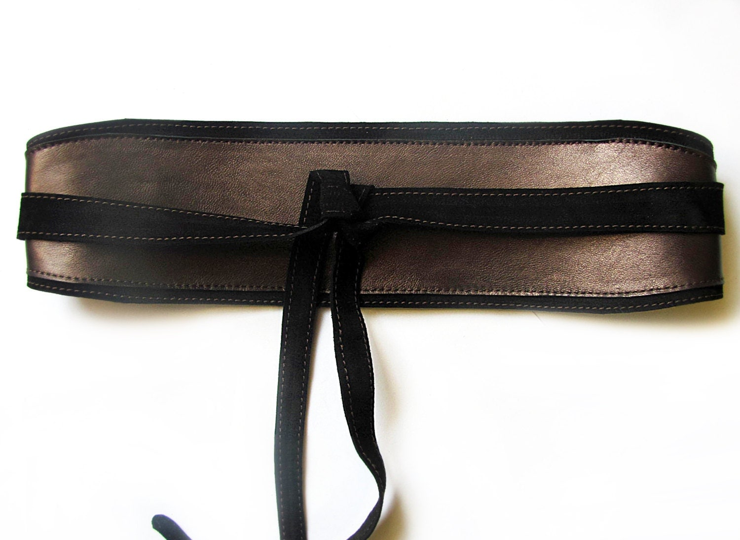 brown leather obi belt brown wide waist belt by erikasbelts