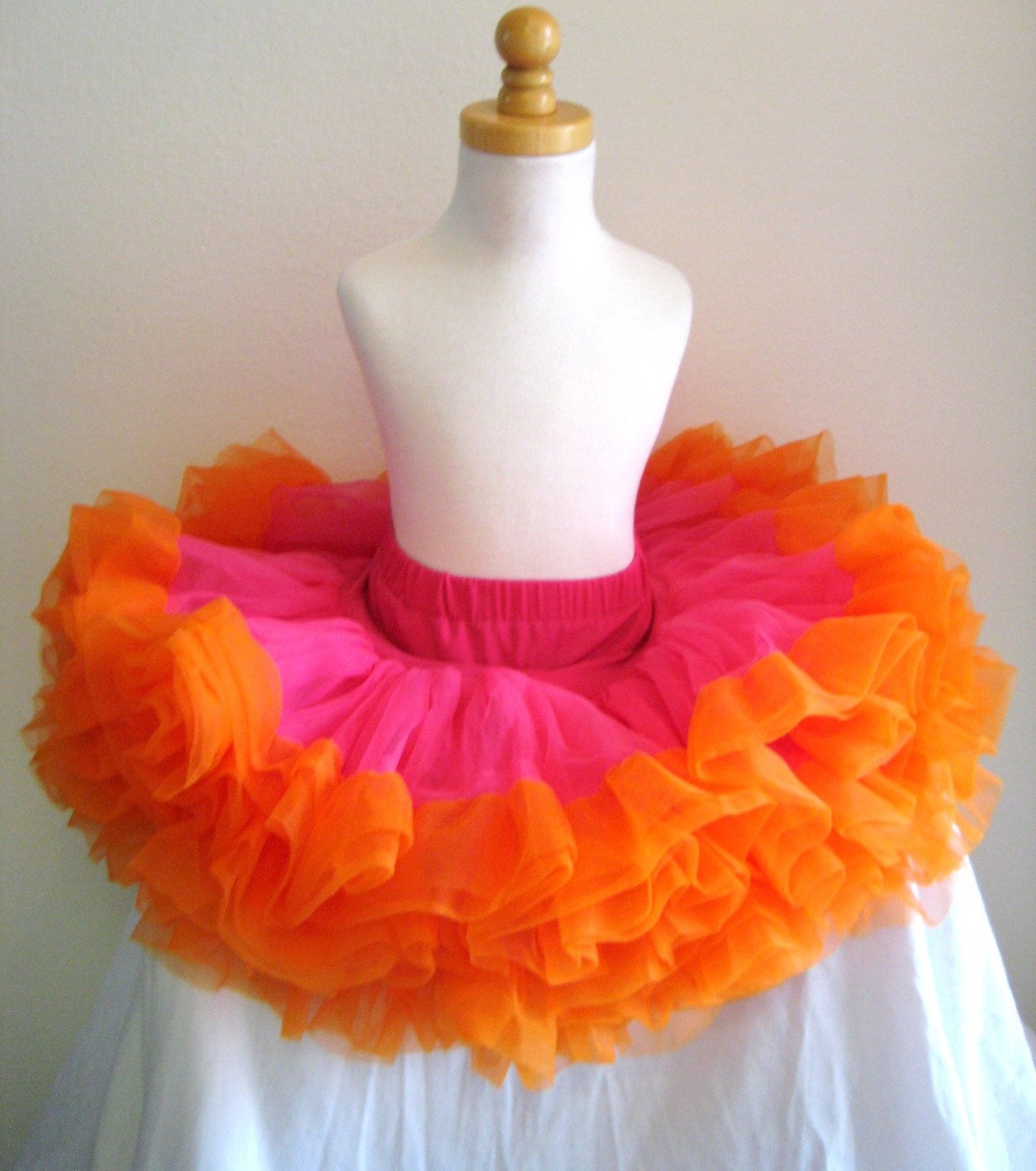 EXCEPTIONAL and Hard to Find ORANGE/PINK pettiskirt tutu Ready to ship
