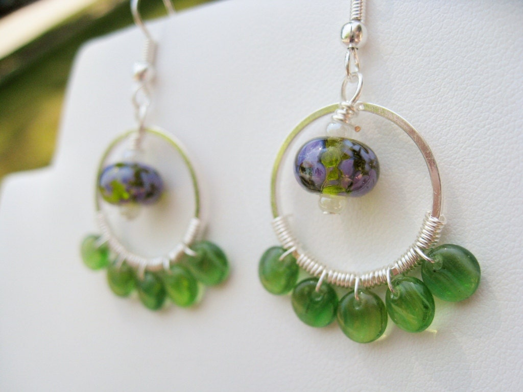 Green(er) Glass Earrings