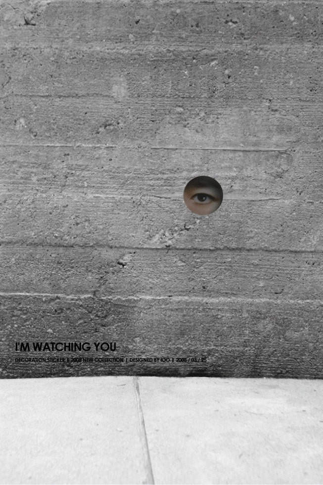 I'm WATCHING YOU Funny Decor Sticker.