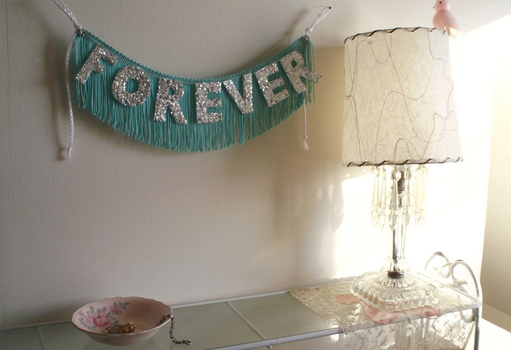 Forever Glittering Fringe Banner  - AVAILABLE NOW - Garland, Party, Photo Prop, and Home Decor - original design fringe banner