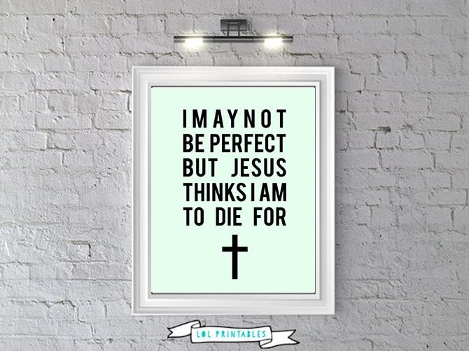 Printable funny christian quote, wall art decor