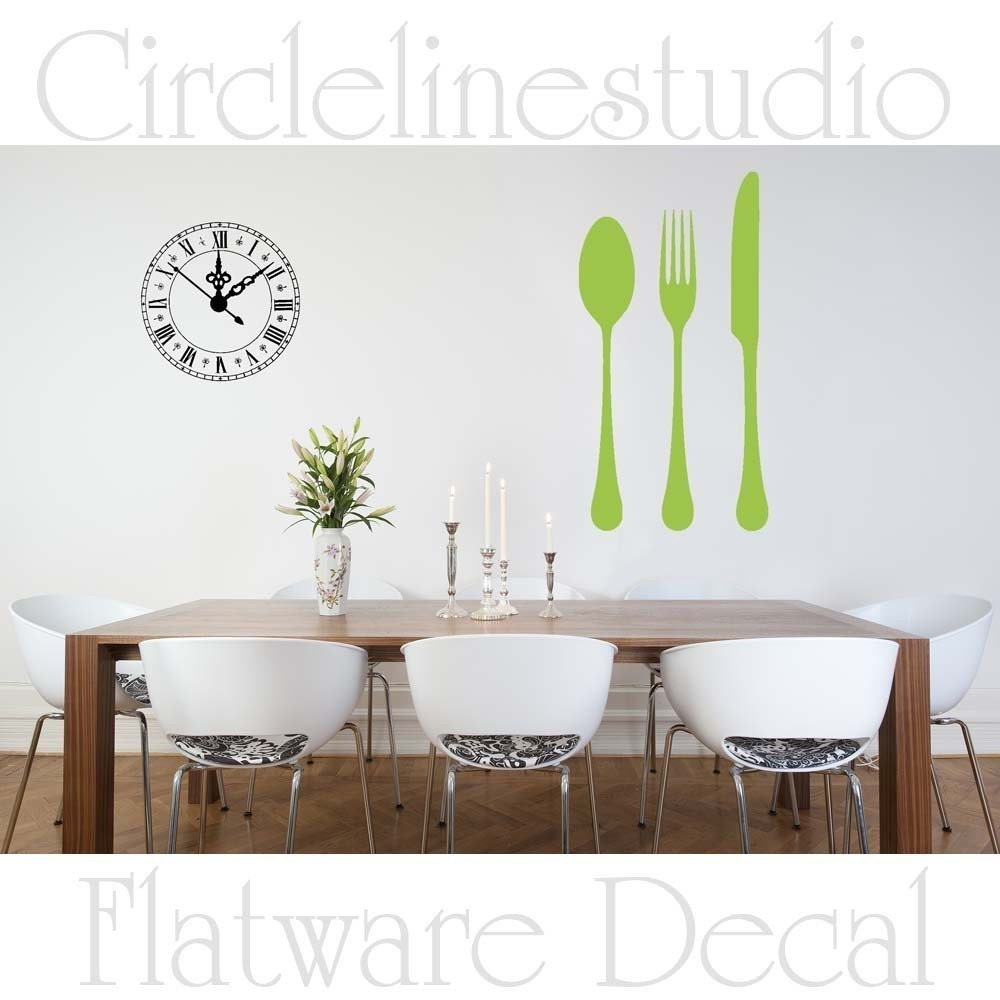 Silverware Vinyl Wall Decal Flatware