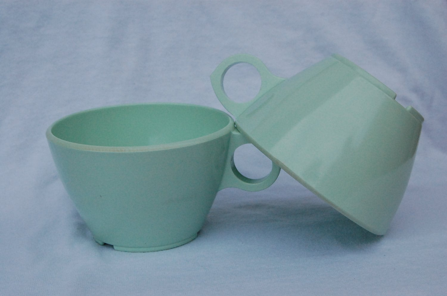 Set of two Seafoam ABC Melamine Cups