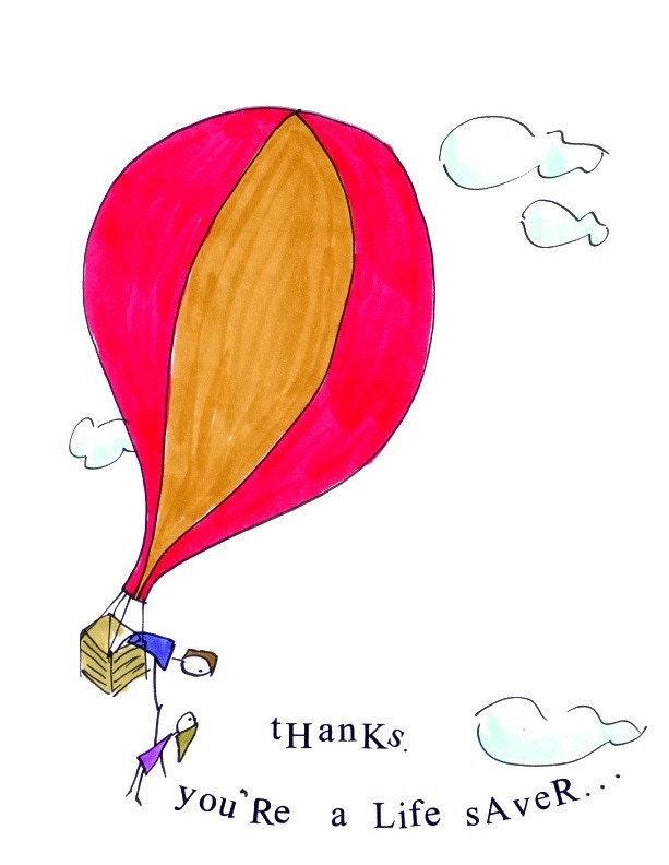 Blank Greeting Card - THANKYOU
