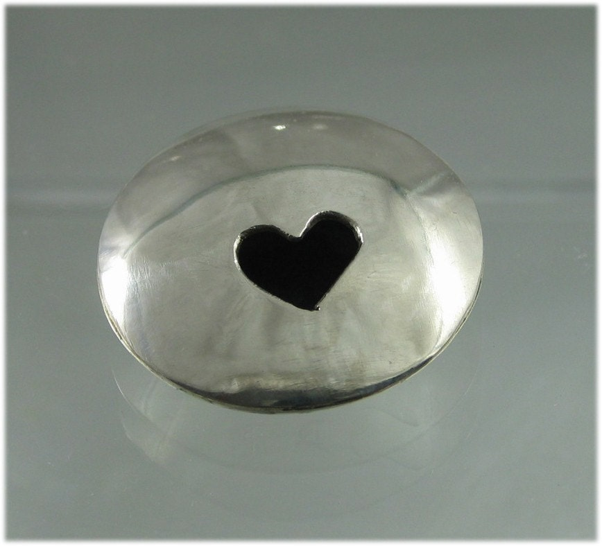 Silver Heart Pendant for Your Valentine