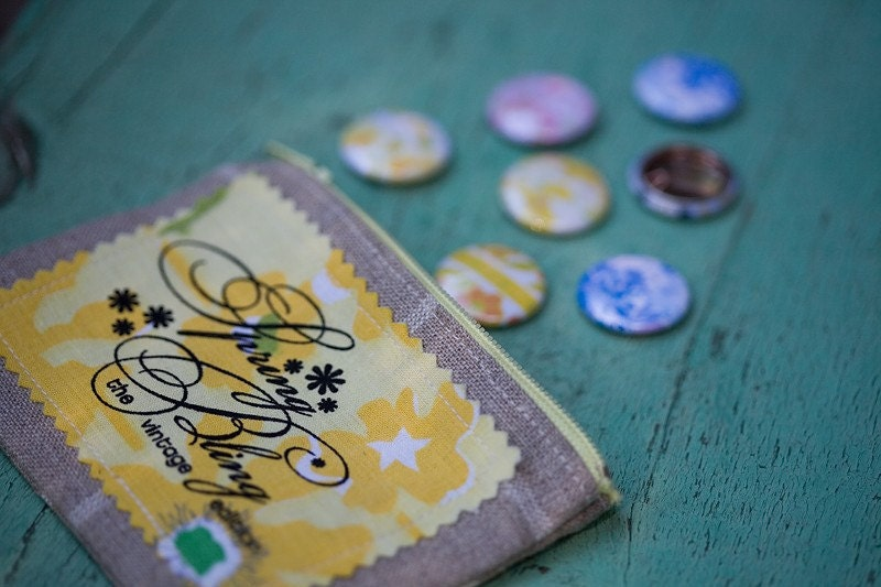 Buttercup yellow SPRING BLING button collection