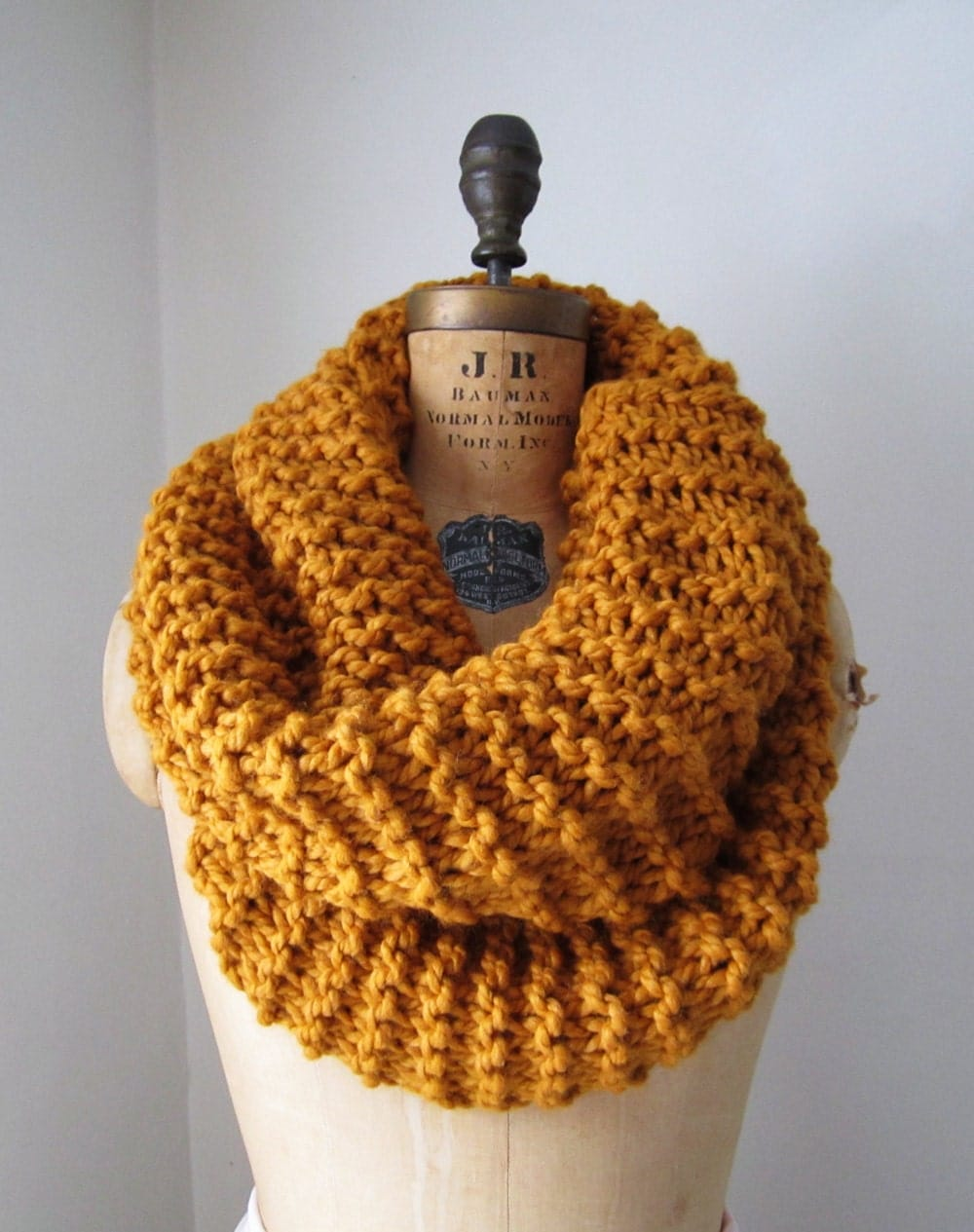 Super Snuggly chunky knit cowl Amber