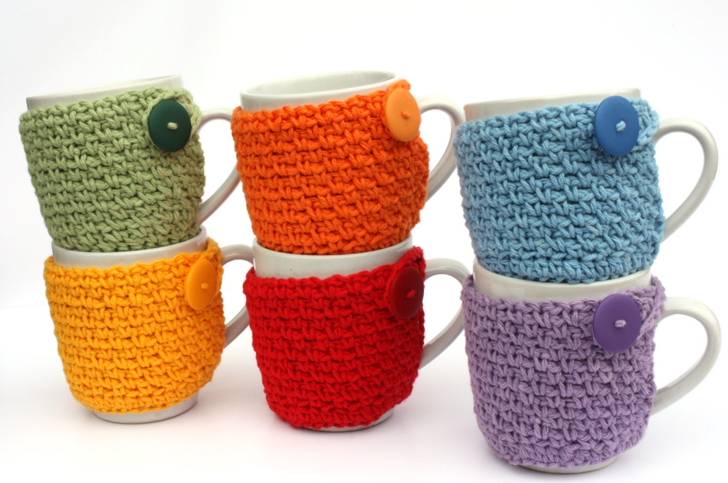 Crochet Coffee Cup Cozy Tea Cozy Cup Sleeve You Pick the Color