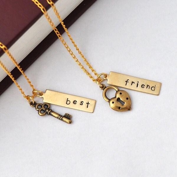 jewelmango etsy best friends necklace