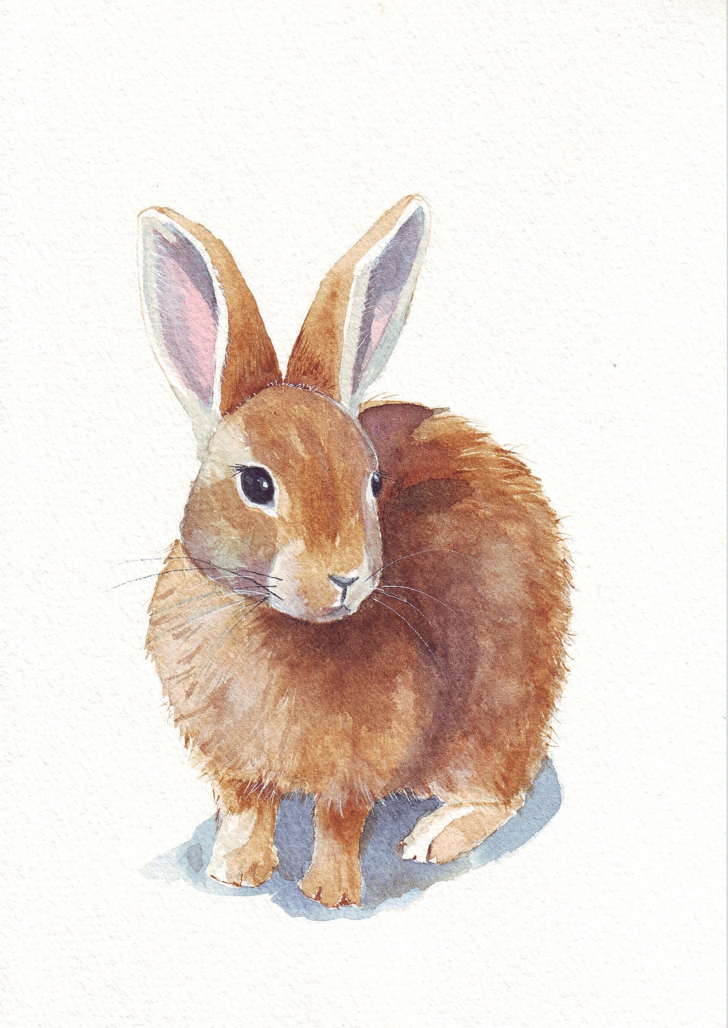 Rabbit ART print of watercolor painting