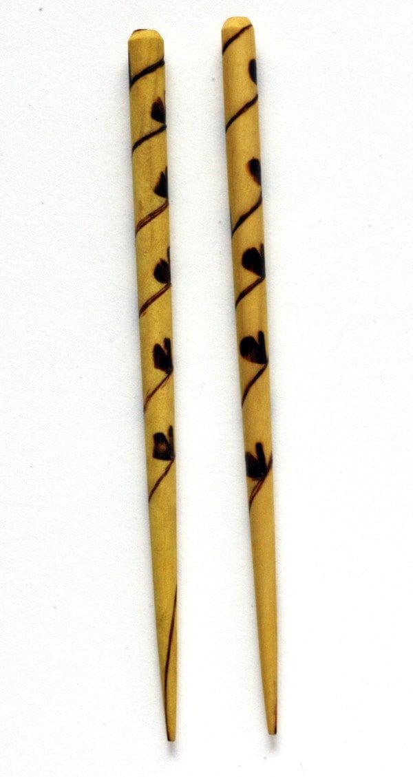 Butterfly Vine--wooden hair sticks