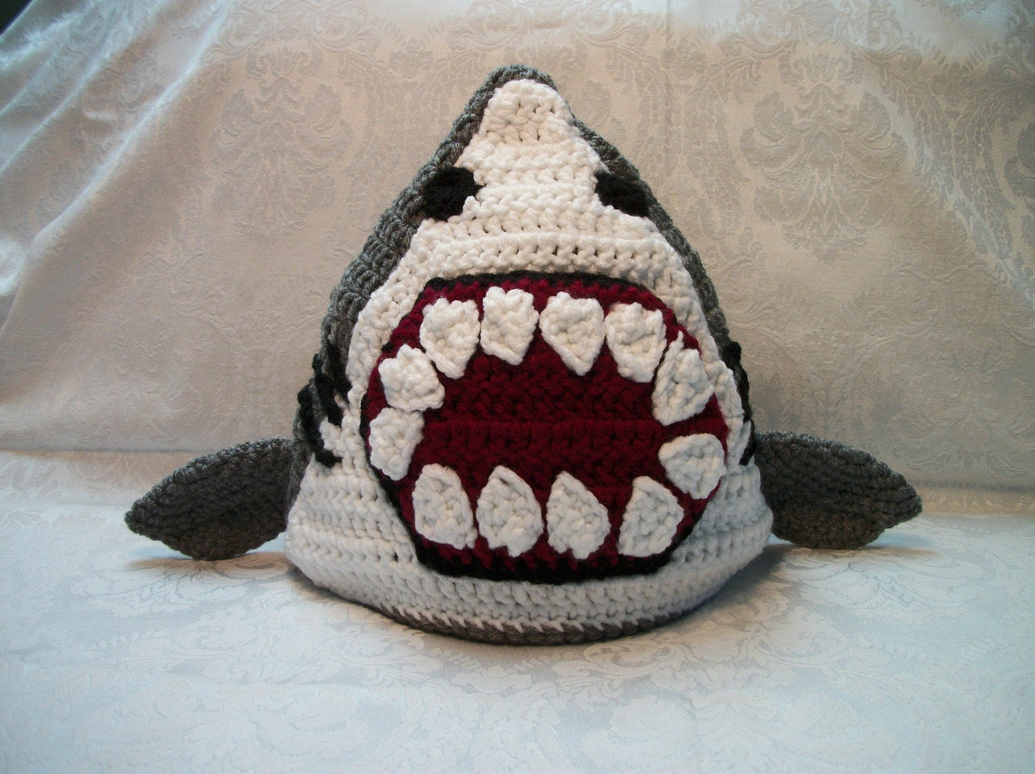 Crocheted Shark Hat by MamawsMadness on Etsy