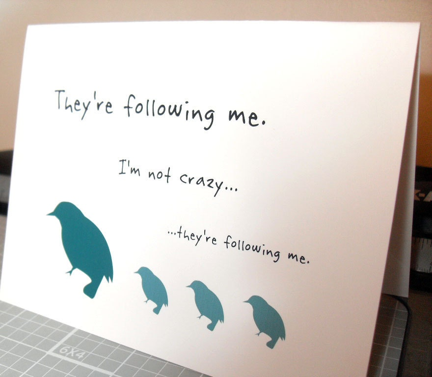 Birds and kids - funny card for moms, dads, friends (WG181)