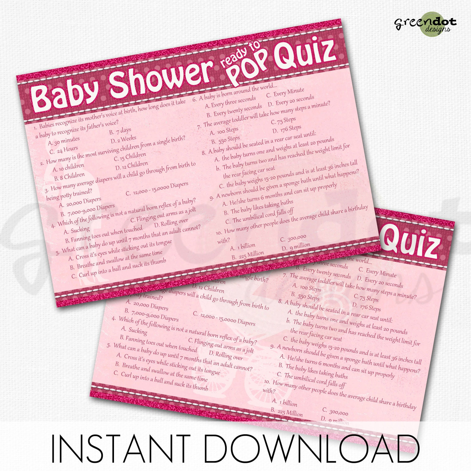 baby shower quiz game card ready to pop quiz printable baby shower