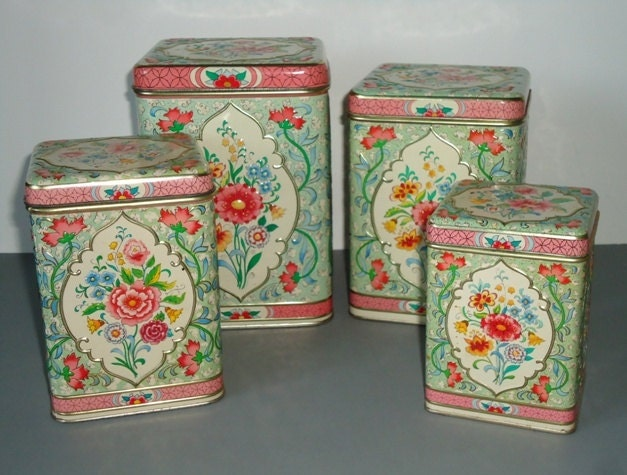 floral kitchen canister set holland floral by swirlingorange11