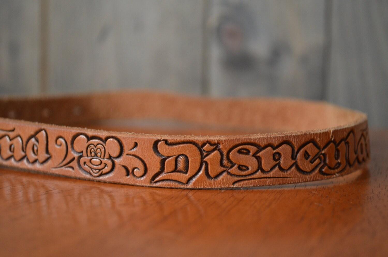 1970s Disneyland Tooled Leather Children's Belt
