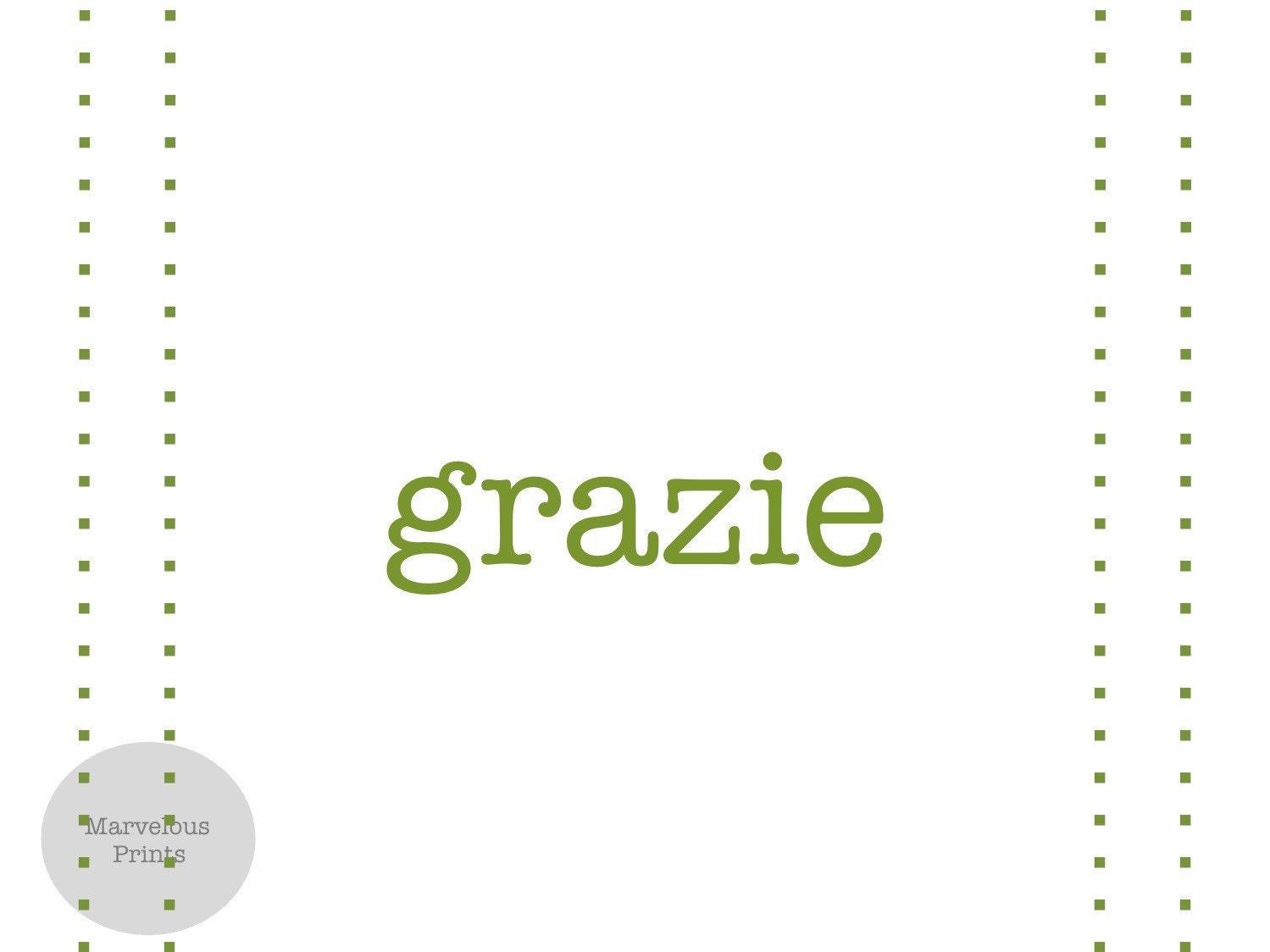 Italian Thank You (Flat)