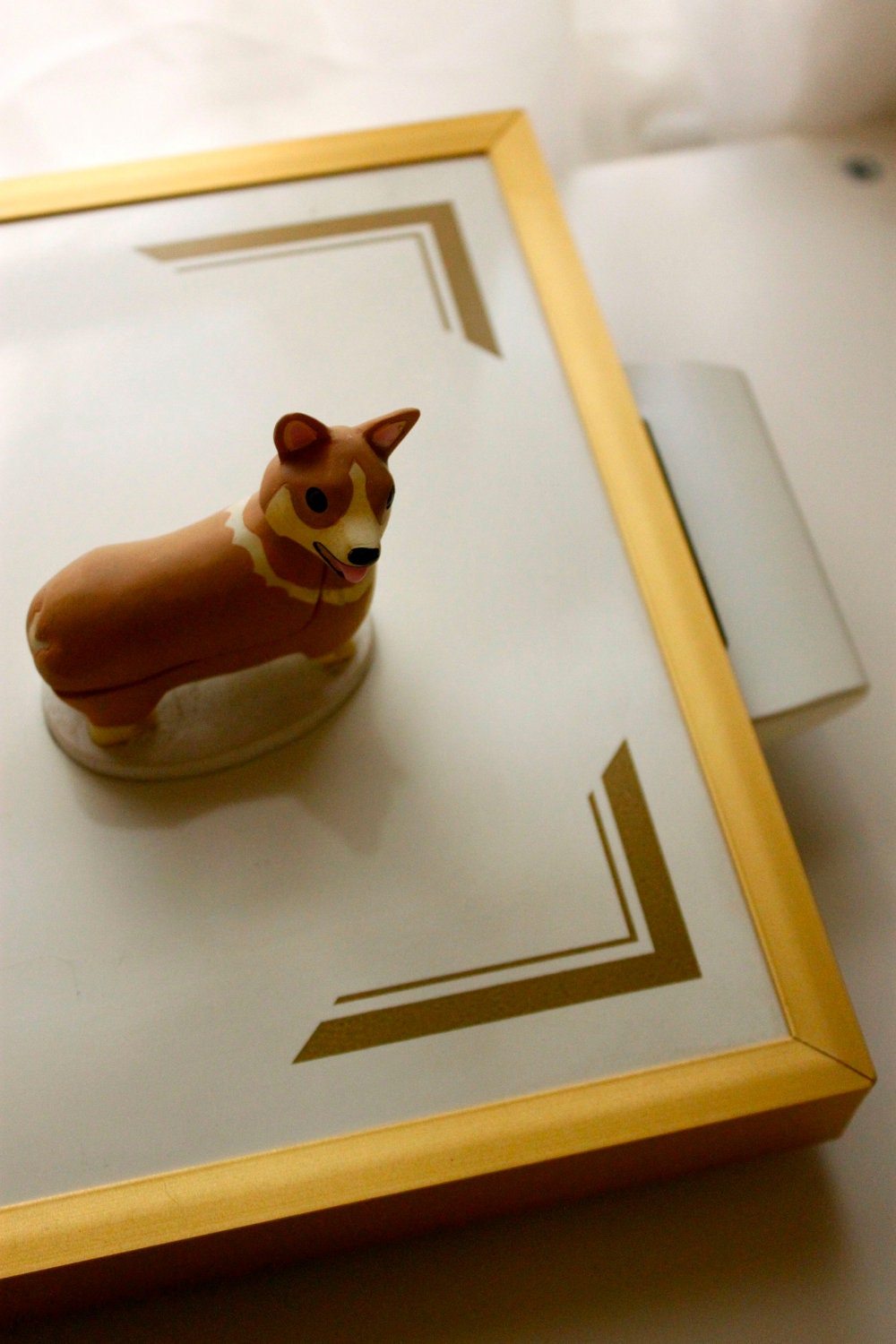 Vintage Electric Warming Tray With Gold Graphics