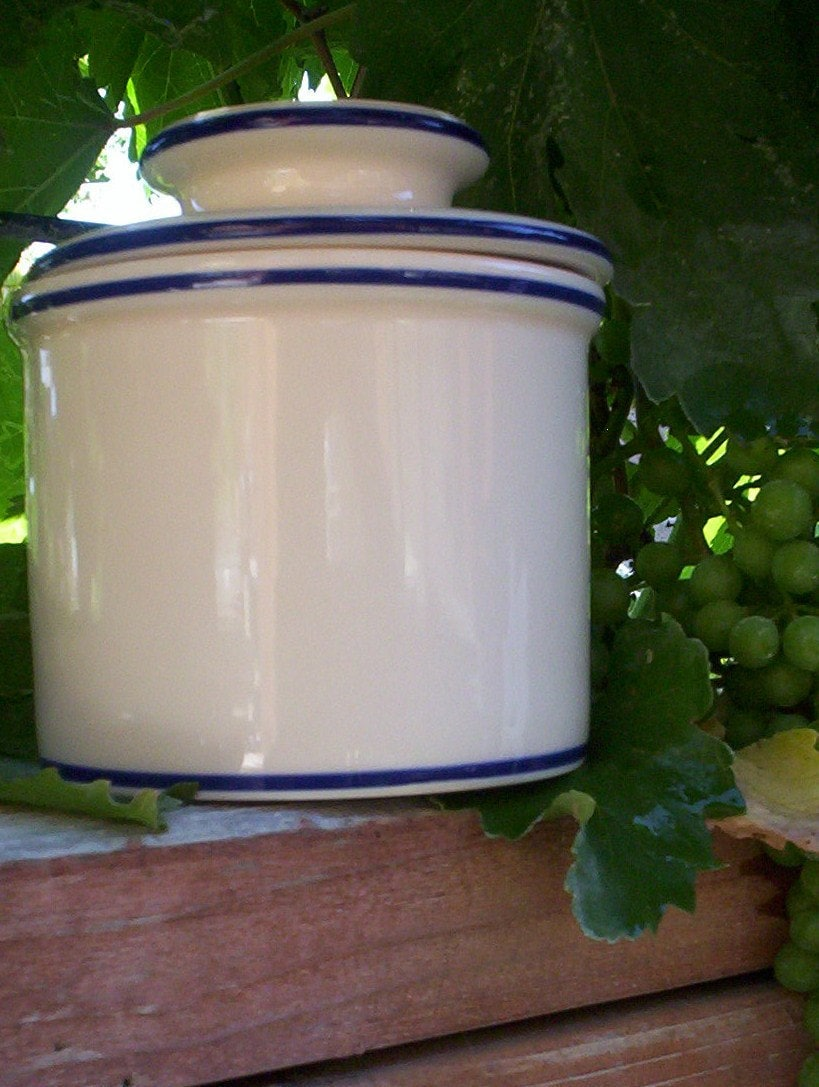 Marble Butter Crock : Butter bell mold dish crock french by