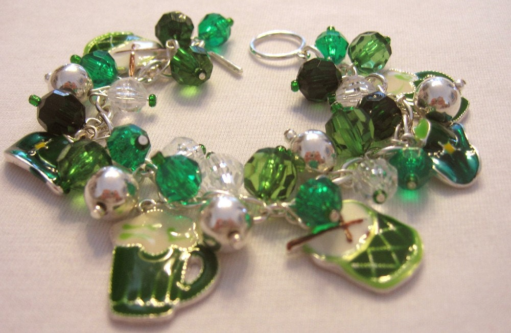 St  PATRICKS  Day  Charm  BRACELET  Irish