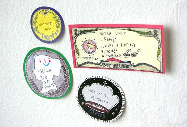 Sticky Post It - coin designs(200 sheets)