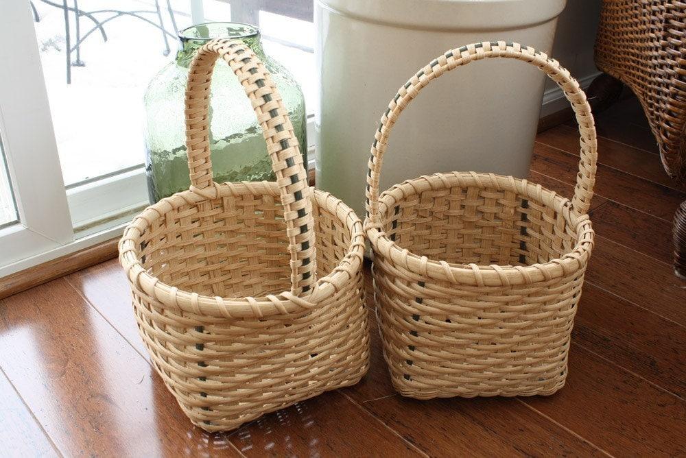 Basket Weaving Handles : Items similar to japanese weave handle baskets on etsy