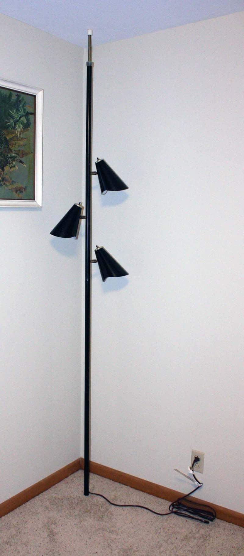 Vintage Lamp Pole Lamp Tension Pole Lamp Black By