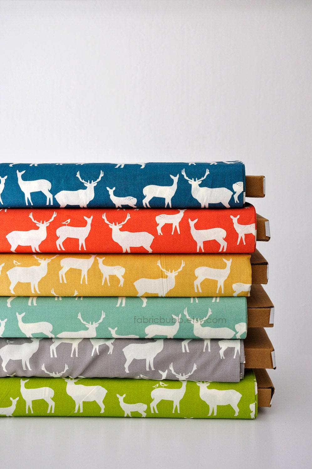 FAT QUARTER, Elk Family Mod Basics 2, Jay Cyn for Birch Fabrics, Organic Fabric