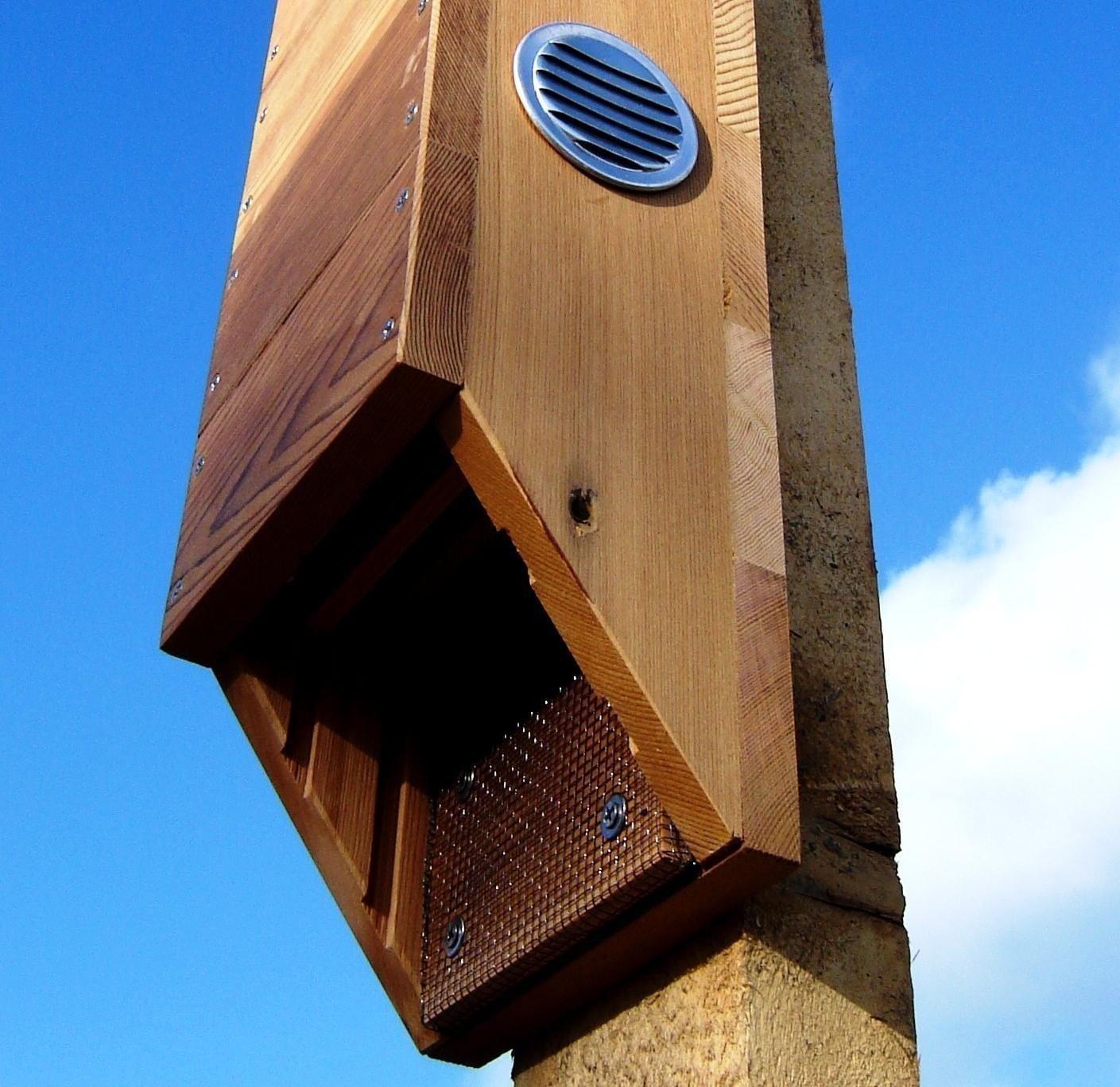 Pa game commission bat house plans house design plans for Bat condo