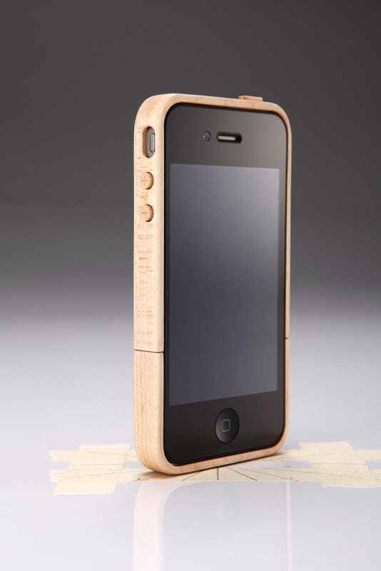 iPhone 4 Maple Wood Case & Stand NIB