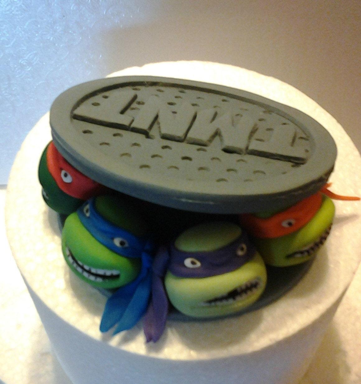 ninja turtle cake topper