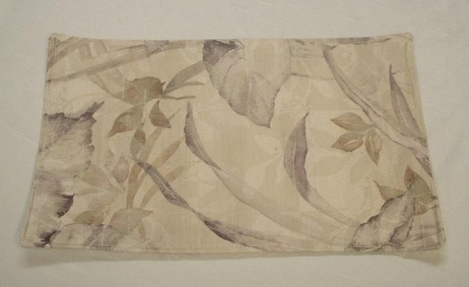 Plum Charcoal Leaves on Cream Placemats (Set of 6)