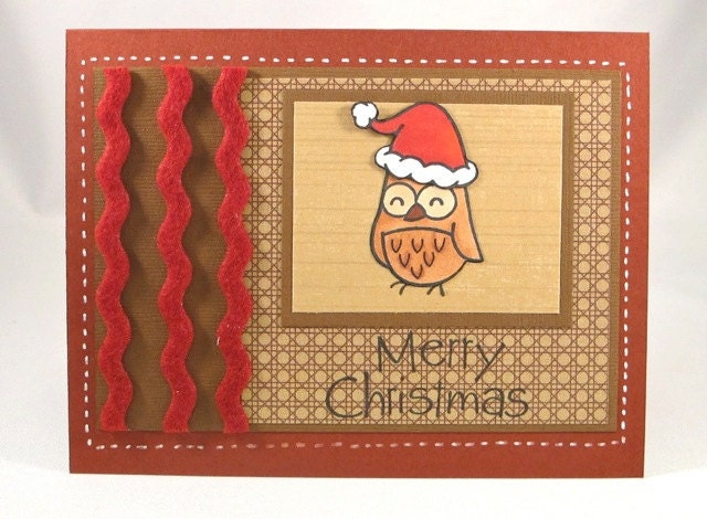 Christmas Owl Card - doodleshop