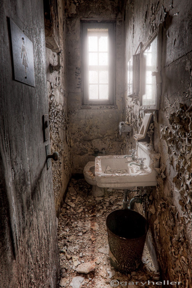 Old Abandoned Ladies Room Old Toilet By Garyhellerphotograph