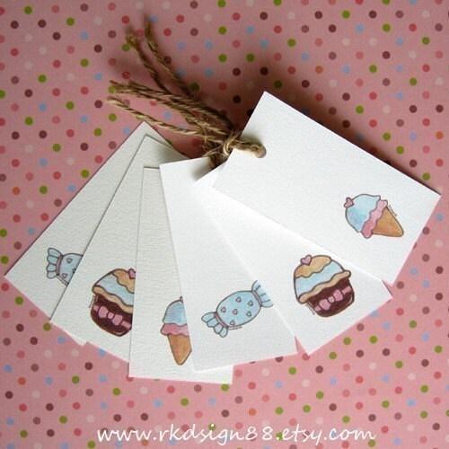 Sweet Gift Tags Set - Printable PDF File - Cute Arts
