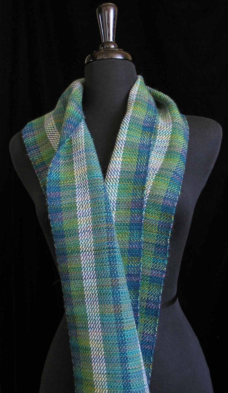 handwoven scarf wool tencel alpaca scarf by