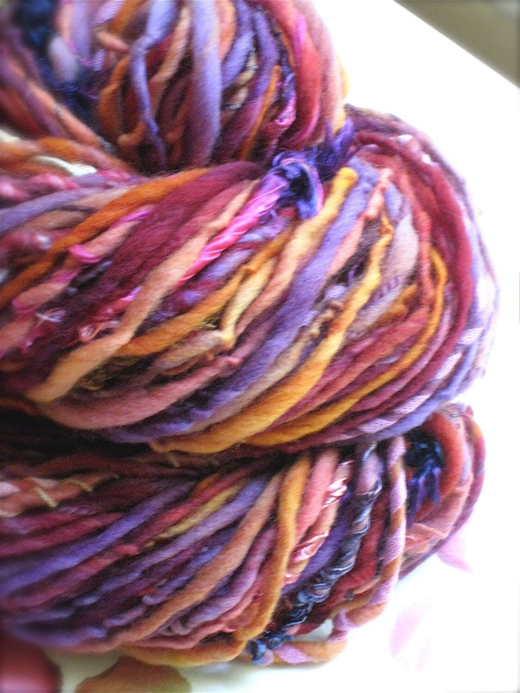 SUGAR PLUM -Handspun and Handpainted Gypsy Yarn by Pancake and Lulu