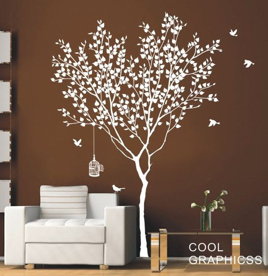 Love Tree -73 Inches tall -Vinyl Wall Decal Sticker Art, Mural,Wall Hanging
