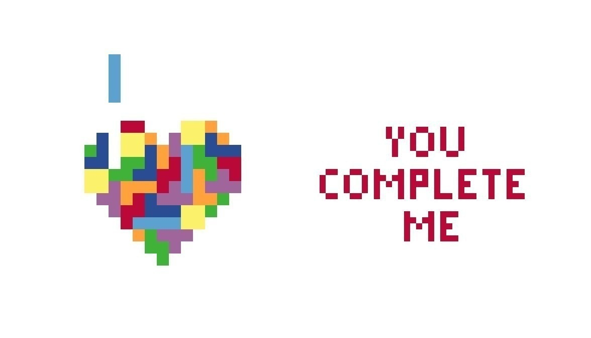 "5x7"" You Complete Me Tetris Cross Stitch PATTERN"