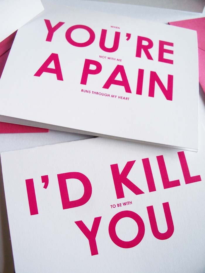 Moving closer Adult card e funny valentine