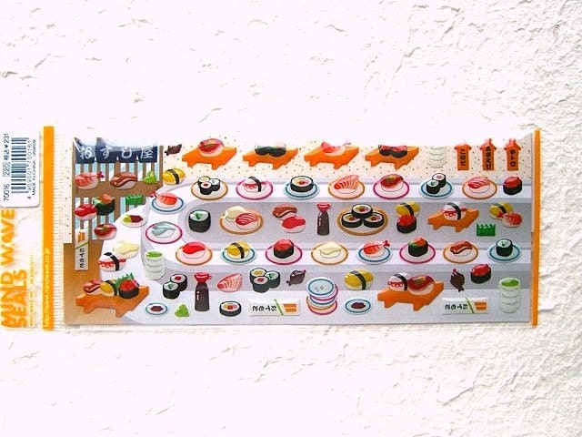 Cute Japanese Food Stickers By Mind Wave - Sushi (S654)