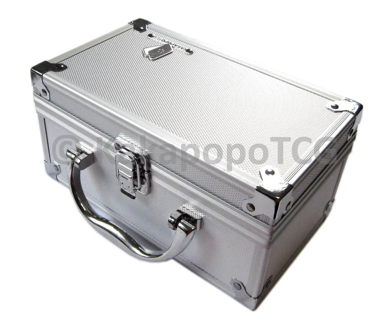 D3 Silver Metal Storage Case Deck Box Top loader Trading Cards MTG Magic the Gathering YGO Yugioh Pokemon Vanguard EDH Commander Carry