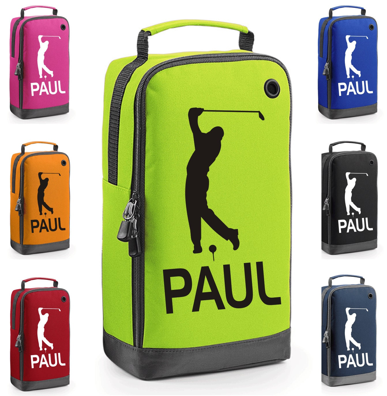Personalised Golf Shoe Bag with Carry Handle   Free Delivery