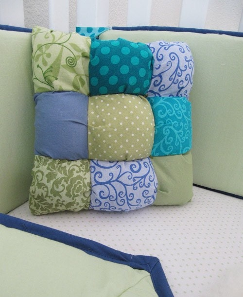 CUSTOM Baby Bedding PUFF PILLOW