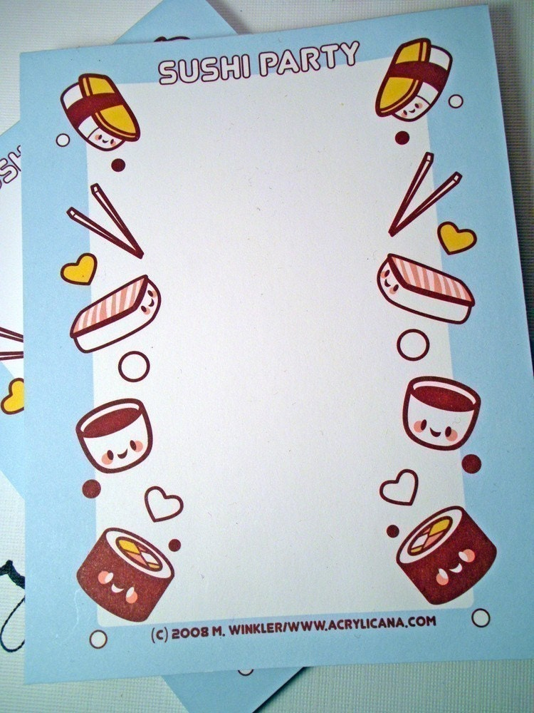 SALE Sushi Memo Pad