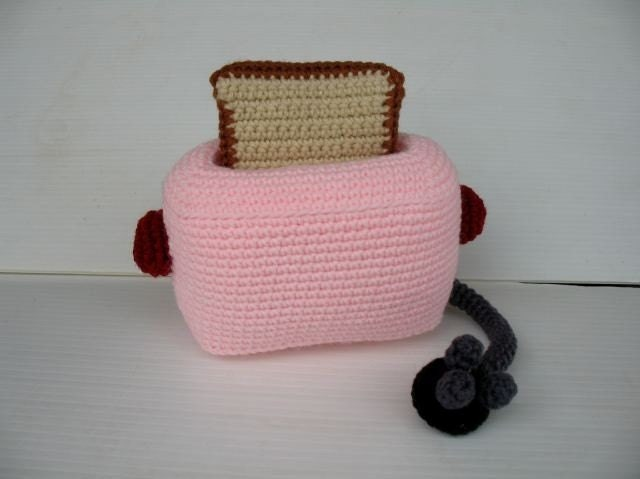 Crochet Cell Phone Holder - TOASTER