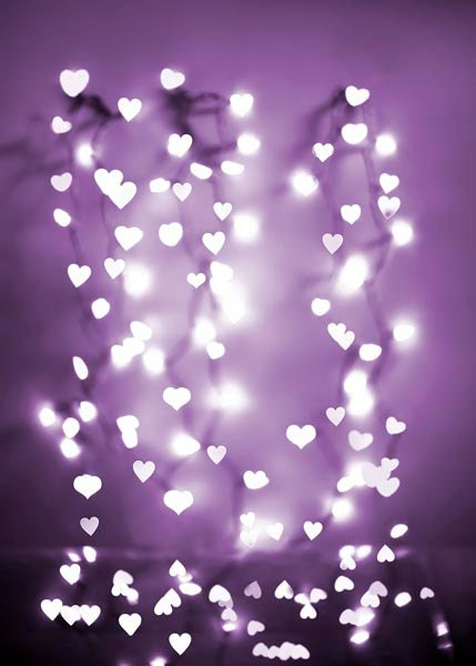 Purple Fairy lights photograph Radiant Orchid Sparkle by Raceytay