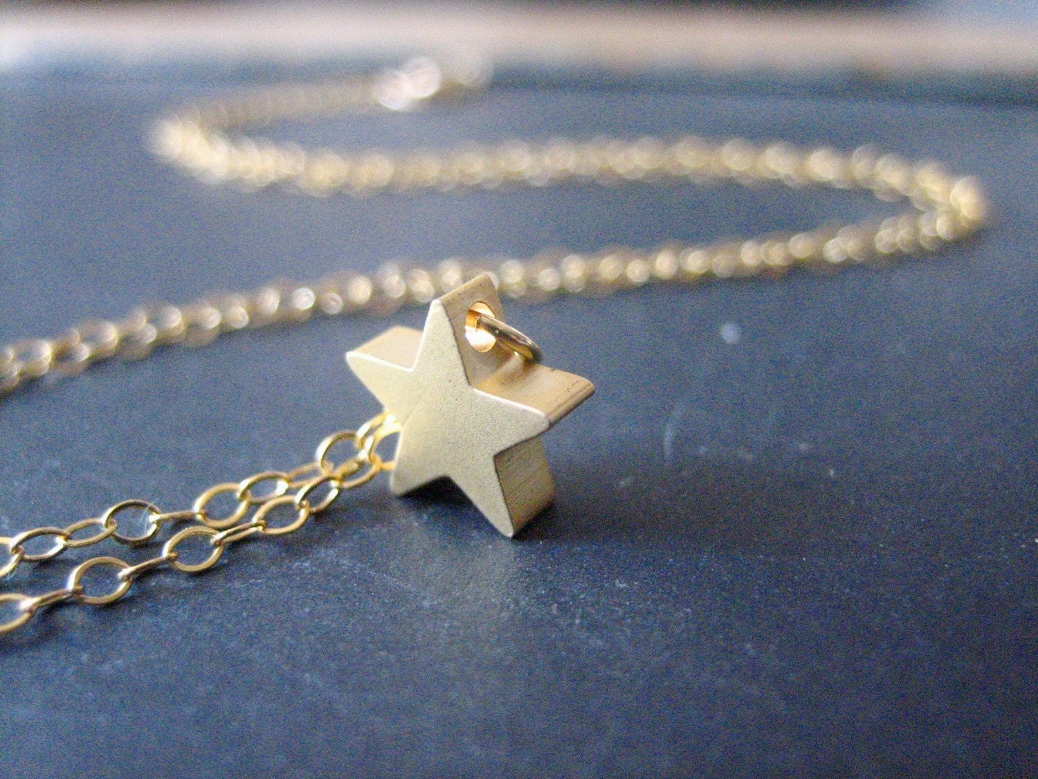 STAR petitie star charm necklace (gold)