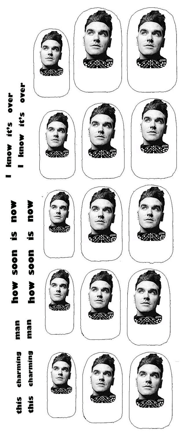 Morrissey Clear Nail Decals lyrical hands this charming man